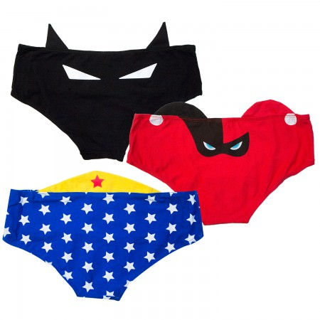 DC Comics Female Superhero Women's 3-Pack Panties