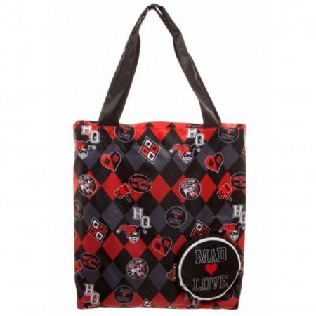Harley Quinn Black Mad Love Tote Bag