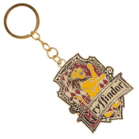 Harry Potter Gryffindor Crest Metal Enamel Keychain