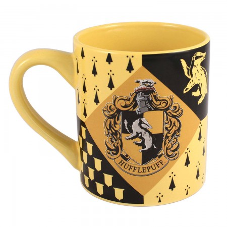 Harry Potter Black & Yellow Hufflepuff Mug