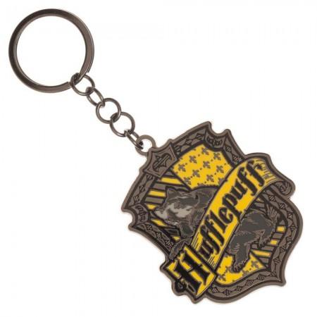 Harry Potter Hufflepuff  House Crest Metal Keychain