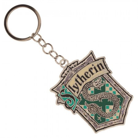 Harry Potter Slytherin School Metal Keychain