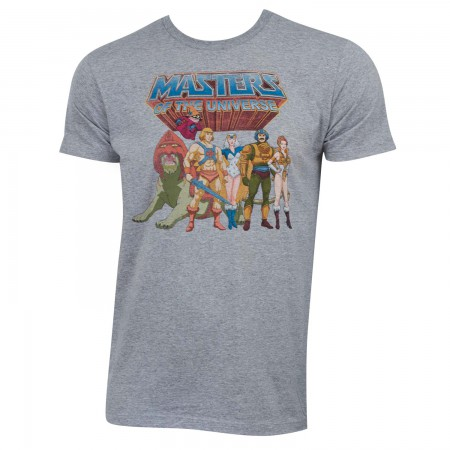 He-Man Masters Of The Universe Men's Grey Characters T-Shirt