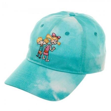 Hey Arnold Nicktoons Helga Blue Tie Dye Dad Hat