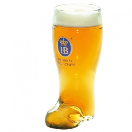 Hofbrauhaus Boot Glass