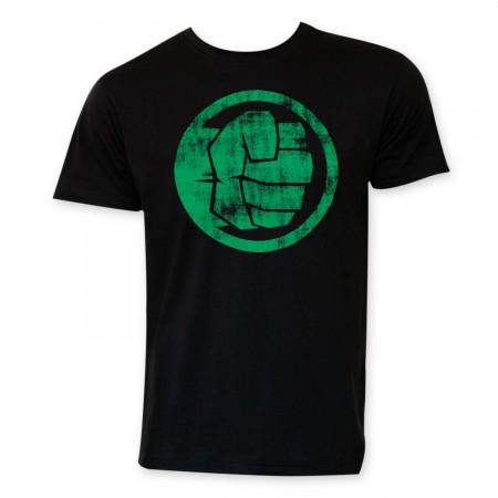 Hulk Black Circle Logo T-Shirt