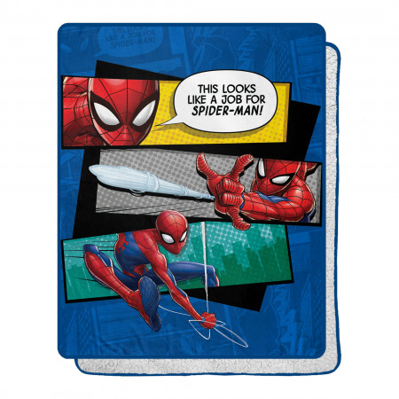 Marvel Comic Spider-Man This Looks 40 X 50 Silk Touch Throw