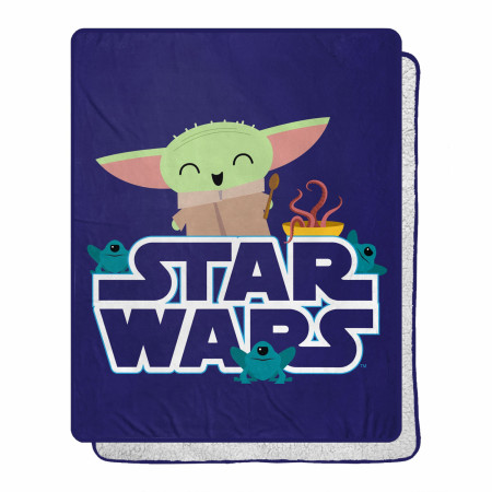Star Wars The Child Grogu Snack is The Way 40 X 50 Silk Touch Throw