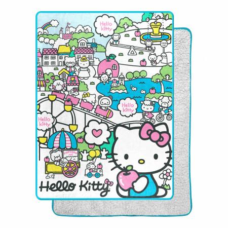 Hello Kitty My Cute World 60 X 80 Silk Touch Throw