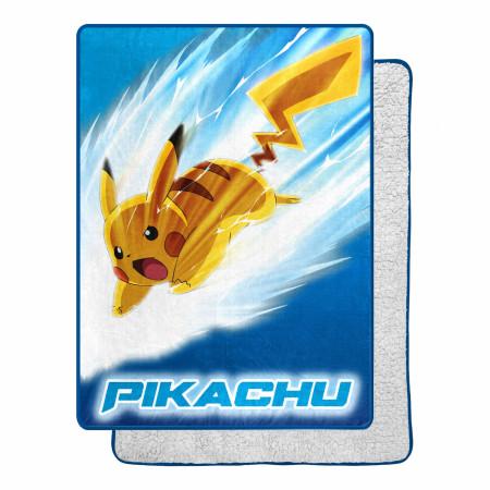 Pokémon Pikachu Bolt 60 X 80 Silk Touch Throw
