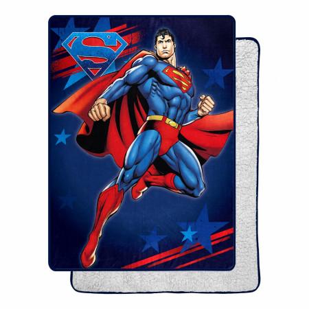DC Comics Superman American Hero 60 X 80 Silk Touch Throw