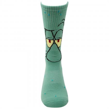 SpongeBob SquarePants and Squidward 2-Pair Pack Character Socks