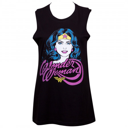 Wonder Woman Women's Black Venice Beach Tank Top
