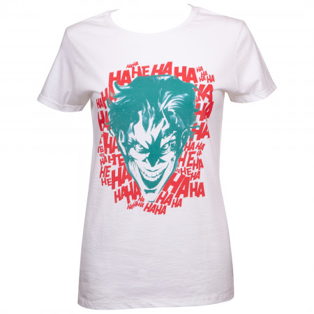 Joker HaHaHaHa Women's White T-Shirt