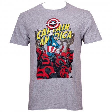 Captain America Fighting Through T-Shirt