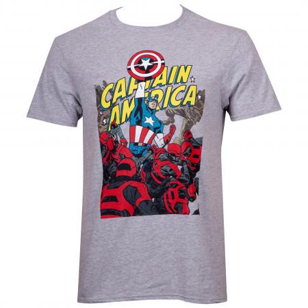 Captain America Fighting Through T-Shirt