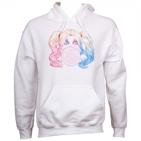 Harley Quinn Fleece Women's White Hoodie