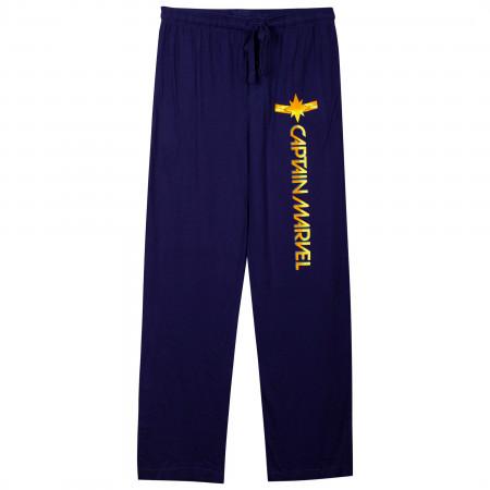 Captain Marvel Symbol Blue Unisex Pajama Pants