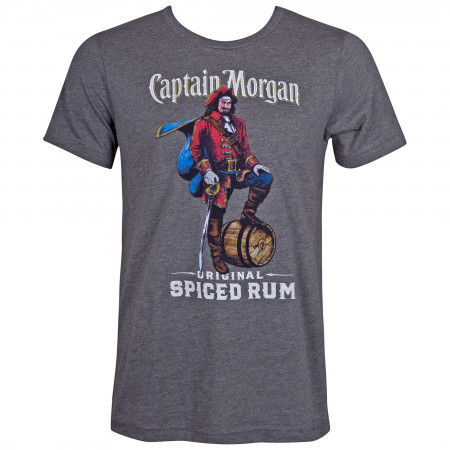 Captain Morgan Men's Grey Original Spiced Rum T-Shirt