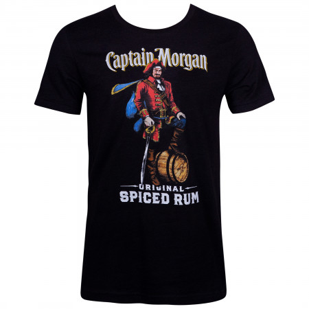 Captain Morgan Men's Black Original Spiced Rum T-Shirt