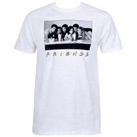 Friends Men's White Vintage Photo T-Shirt