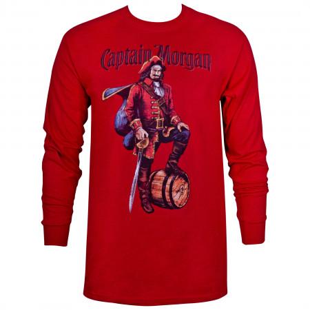 Captain Morgan Long Sleeve Red Shirt