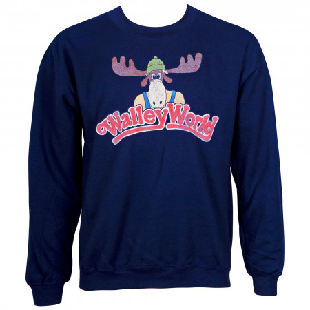 Wally World Men's Navy Blue Crew Neck Sweatshirt