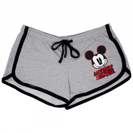 Mickey Mouse Women's Grey Red Foil Shorts