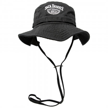 Jack Daniels Embroidered Black Bucket Hat