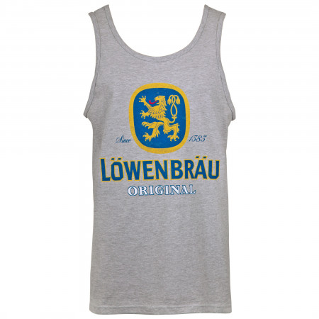 Lowenbrau Men's Grey Logo Tank Top