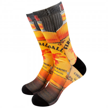 Fireball Whiskey Men's Bottle Socks