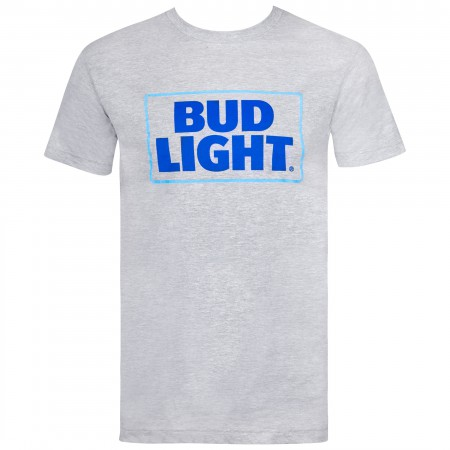 Bud Light Beer Classic Logo Men's Grey T-Shirt