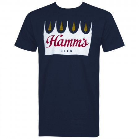 Hamm's Beer Crown Logo Men's Blue T-Shirt