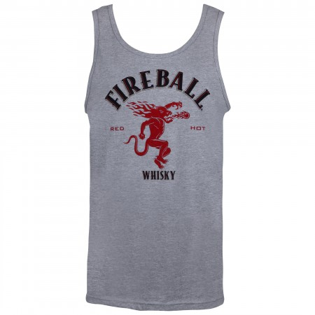 Fireball Whisky Logo Men's Grey Tank Top