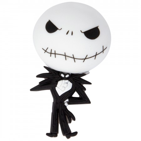 Nightmare Before Xmas White And Black 3D Foam Jack Magnet