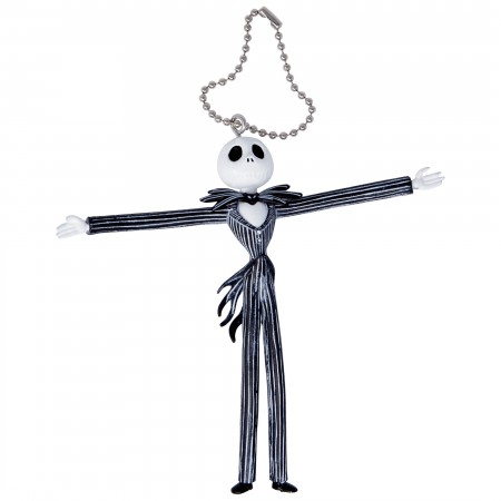Nightmare Before Xmas Bendable Jack Arms Out Keychain