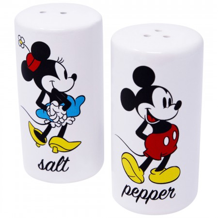 Mickey And Minnie Salt And Pepper White Combo Set