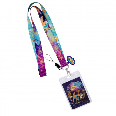 Disney Aladdin Multi-Colored Jasmine Keychain Lanyard