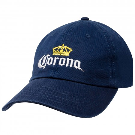 Corona Crown Logo Navy Blue Summer Dad Hat