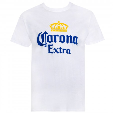 Corona Extra Men's White Basic T-Shirt