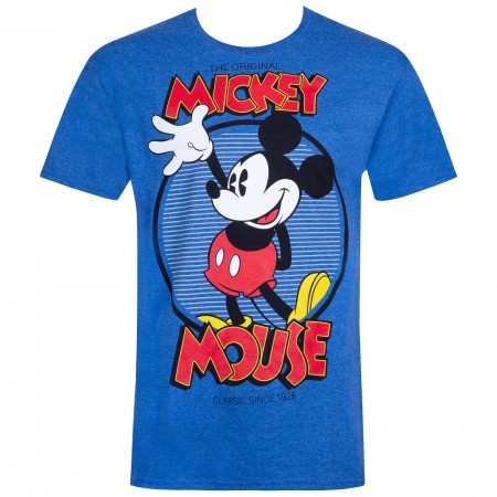 Mickey Mouse Men's Blue Original T-Shirt