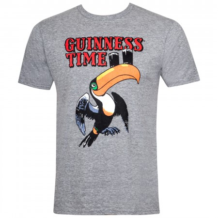 Guinness Men's Grey Toucan Time T-Shirt