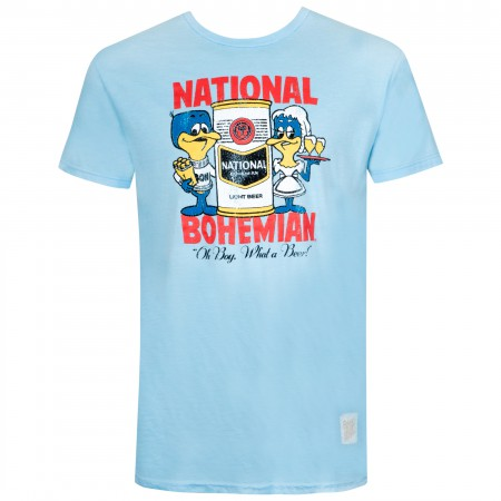 National Bohemian Vintage Design Blue Tee Shirt