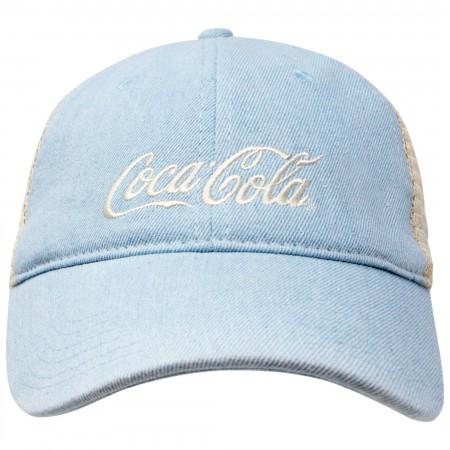 Coca-Cola Baby Blue Distressed Trucker Hat
