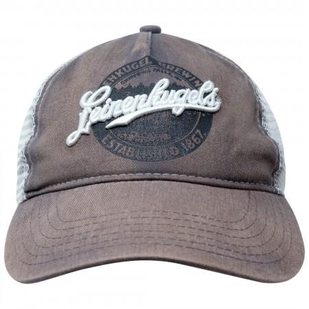 Leinenkugel Brown Distressed Trucker Hat