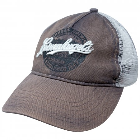 Leinenkugel Distressed Brown Mesh Trucker Hat