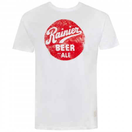 Rainer Men's White Bottle Cap Logo T-Shirt