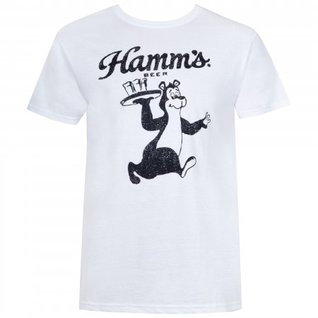 Hamm's Men's White Bear Waiter T-Shirt
