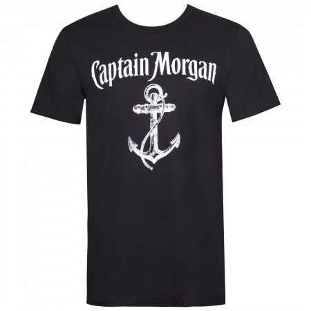 Captain Morgan Men's Black Anchor Logo T-Shirt