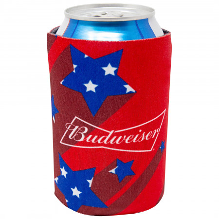 Budweiser Beer Shooting Stars Red Can Cooler